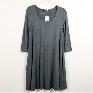 Urban Outfitters BDG Gray Swingy Tea Women's Dress